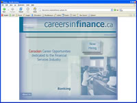 Small picture of www.careersinfinance.ca home page