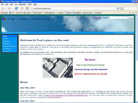 Small picture of tomkitta.com home page